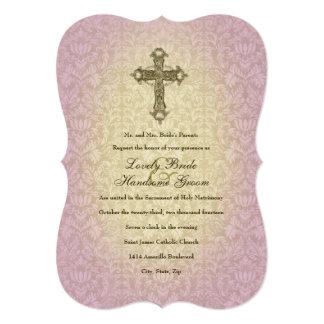Convite transversal católico de incandescência do