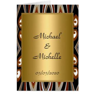 Convite tribal do ouro do casamento
