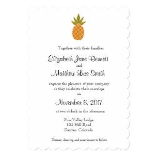 Convite tropical bilíngüe 2 do casamento tomado