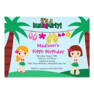 Convite tropical bonito do aniversário do partido