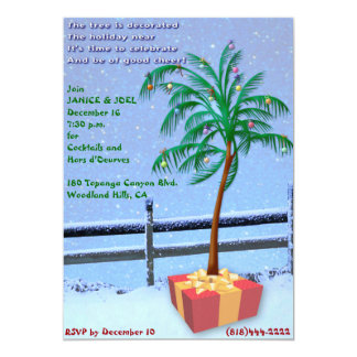 Convite tropical da festa de Natal