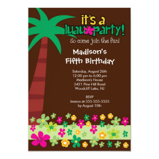 Convite tropical da festa na piscina do