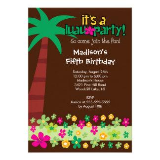 Convite tropical da festa na piscina do aniversári