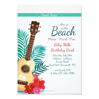 Convite tropical da guitarra