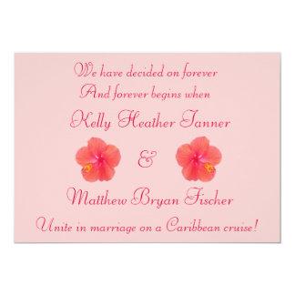 Convite tropical da recepção de casamento do