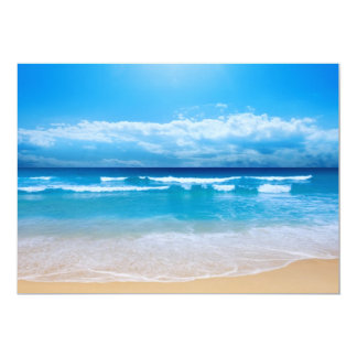 Convite tropical da vista para o mar