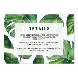 Convite tropical do casamento, cartão de casamento