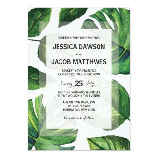 Convite tropical do casamento, casamento de praia