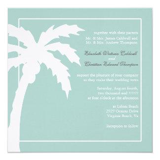 Convite tropical do casamento da palmeira