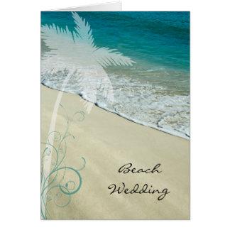 Convite tropical do casamento de praia