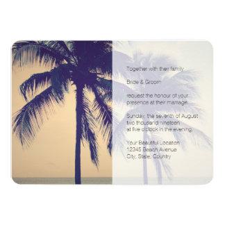 Convite tropical do casamento do destino de Palm