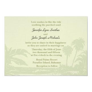 Convite tropical do casamento do encontro