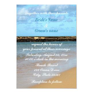 Convite tropical do casamento do paraíso da praia