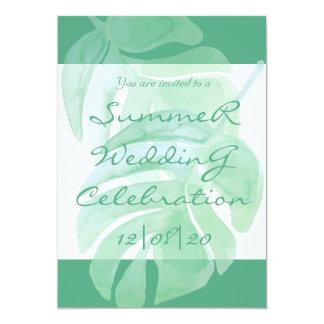 Convite tropical do casamento do verão da ilha