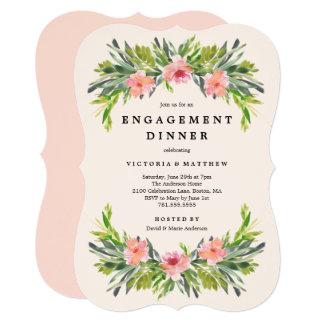 Convite tropical do comensal do noivado