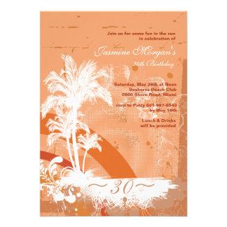 Convite tropical do Grunge