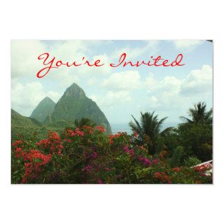 Convite tropical do paraíso