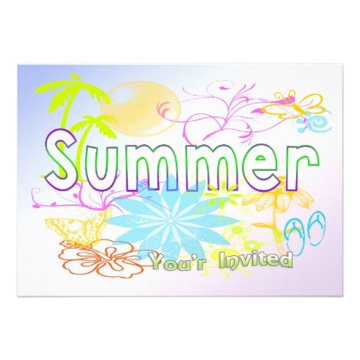 Convite tropical do verão