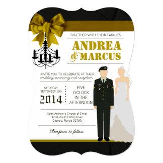 convite uniforme do casamento da noiva do EXÉRCITO