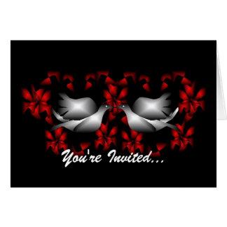 Convite vazio das pombas do amor cartão