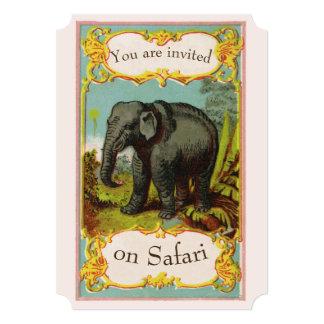 Convite vazio personalizado do elefante dos 1880s