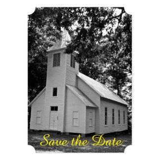 Convite velho do casamento da igreja