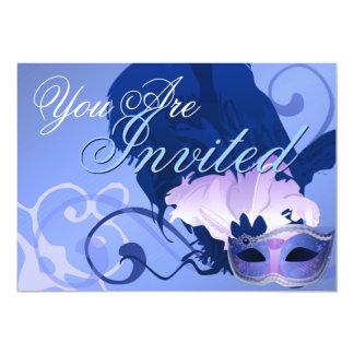 Convite Venetian da máscara do mascarada