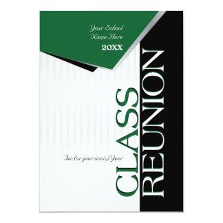 Convite verde customizável da reunião de classe