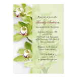 Convite verde da aposentadoria da orquídea do Cymb