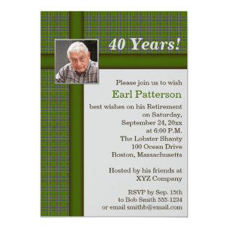 Convite verde da aposentadoria da xadrez, das
