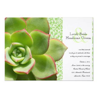 Convite verde do casamento do Succulent das