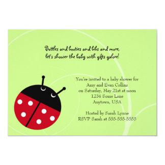 Convite verde do chá de fraldas da senhora
