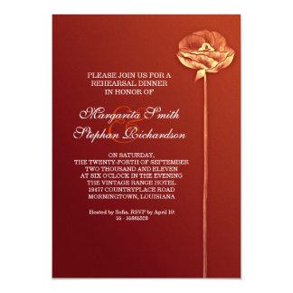 convite vermelho bonito elegante do jantar de