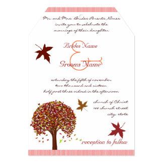 Convite vermelho coral do casamento da limeira de