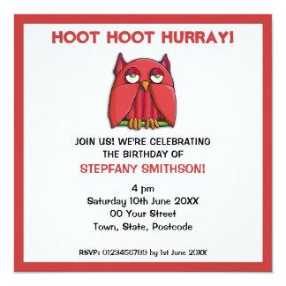 Convite vermelho da festa de aniversário 2 da