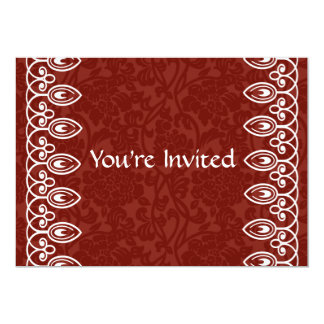 Convite vermelho do aniversário de brocado