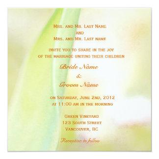 convite vermelho do casamento da flor da tulipa