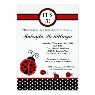 convite vermelho do chá de fraldas da senhora convite 12.7 x 17.78cm