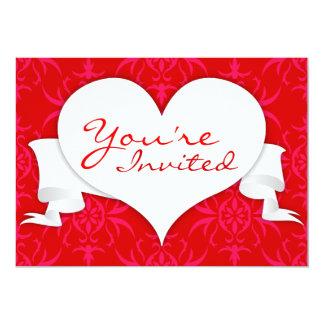 Convite vermelho do coração de Orlee