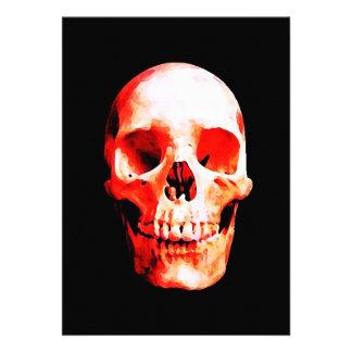 Convite vermelho do crânio