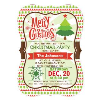 Convite vermelho & verde da festa de Natal