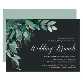 Convite Wedding abundante da refeição matinal da