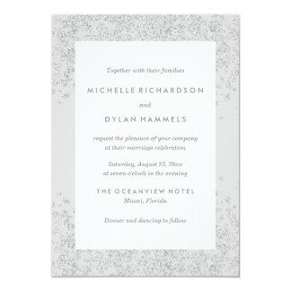 Convite Wedding de prata do Glitz  