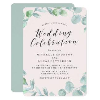 Convite Wedding delicado da grinalda  