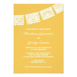 Convite Wedding do amarelo | de Papel Picado