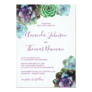 Convite Wedding dos Succulents | da aguarela