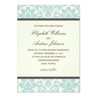CONVITE WEDDING ELEGANTE AZUL DO DAMASCO %PIPE%