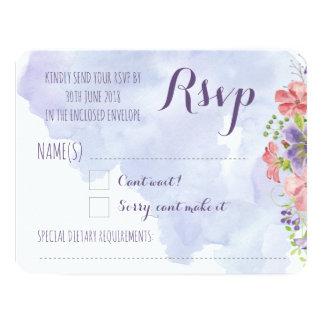 Convite Wedding floral Pastel do Watercolour RSVP