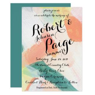 Convite Wedding pintado