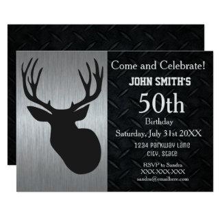 Convites adultos ásperos do aniversário da caça